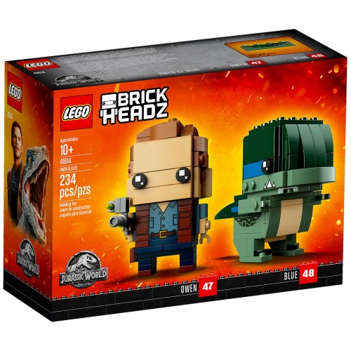 Pack BrickHeadz Owen et Blue n°41614 (Jurassic World)