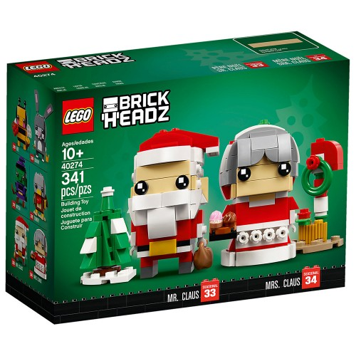 Pack BrickHeadz Mr Claus and Mrs Claus n°40274