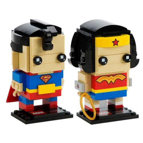Pack BrickHeadz Superman et Wonder Woman n°41490 (DC Comics)