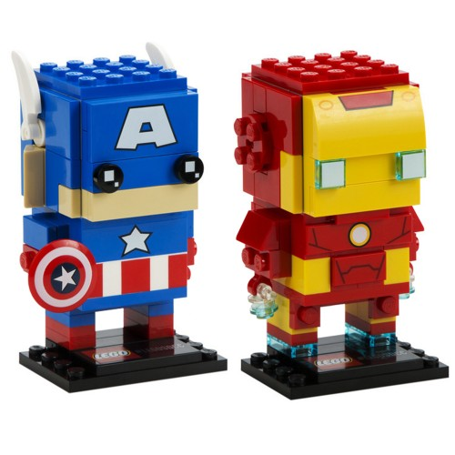 Pack BrickHeadz Captain America et Iron Man n°41492 (Marvel)