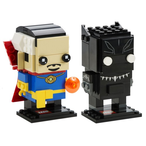 Pack BrickHeadz Doctor Strange et Black Panther n°41493 (Marvel)