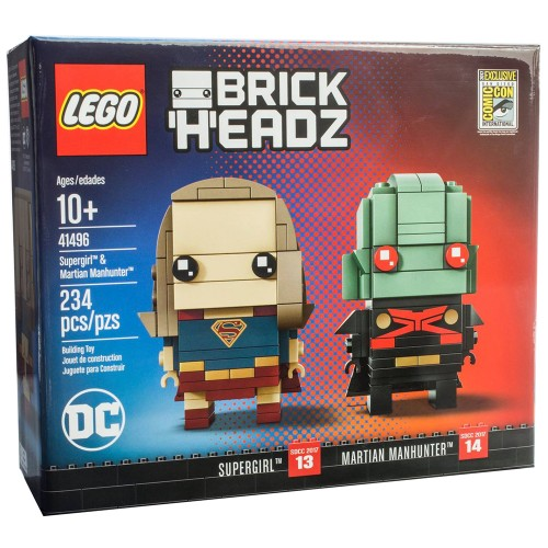 Pack BrickHeadz Supergirl et Martian Manhunter n°41496 (DC Comics)