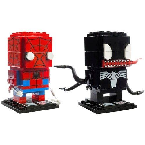 Pack BrickHeadz Spiderman et Venom n°41497 (Marvel)