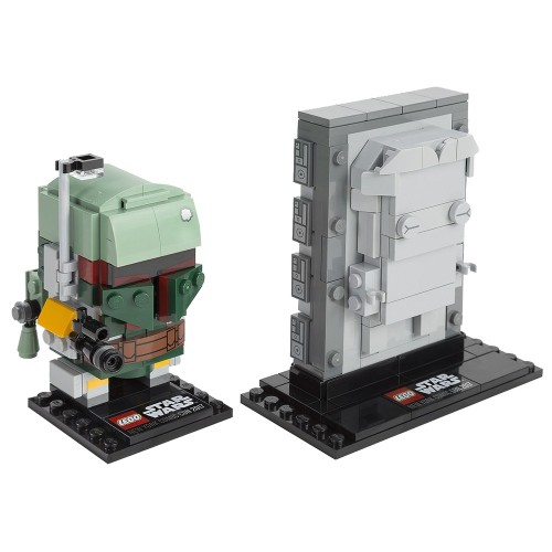 Pack BrickHeadz Boba Fett et Han Solo Carbonite n°41498 (Star Wars)