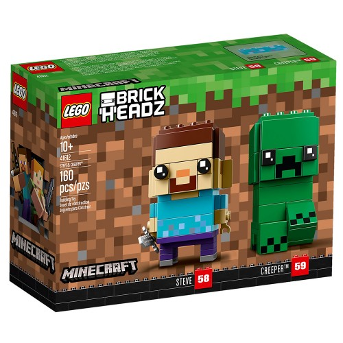 Pack BrickHeadz Steve et Creeper n°41612 (Minecraft)