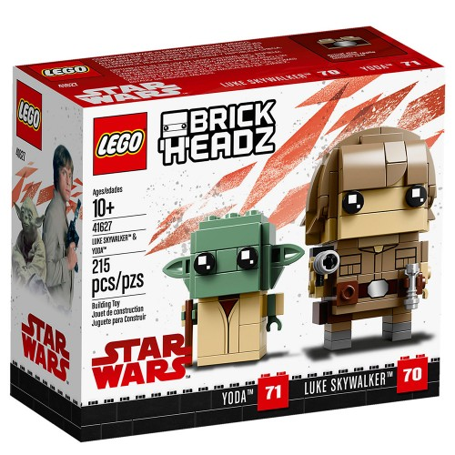 Pack BrickHeadz Luke Skywalker et Yoda n°41627 (Star Wars)